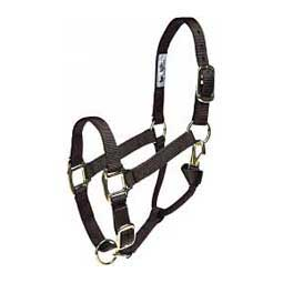 "Adjustable Yearling 1"" Horse Halter Black - Item # 20351"