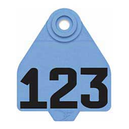Blue DuFlex Ear Tags - Medium Numbered ID Tags