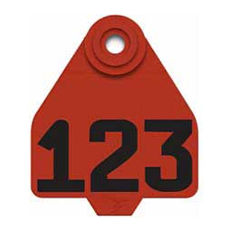 DuFlex Numbered Medium Cattle ID Ear Tags Red - Item # 20713