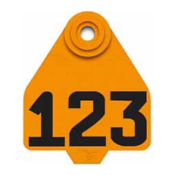 Orange DuFlex Ear Tags - Medium Numbered ID Tags