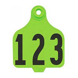 DuFlex Numbered Large Cattle ID Ear Tags Neon Green - Item # 20714