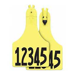 Yellow A-Tag - Calf w/ Free Number on Front & Back