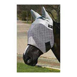 Fly Mask with Ears Black/Gray - Item # 21332