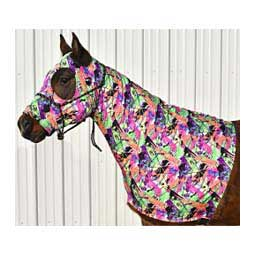 Stretch Lycra Horse Hood Neon Splash - Item # 21594