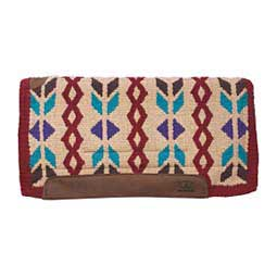 Woven Top Saddle Pad Red/Tan - Item # 22819