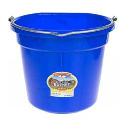 Flat Back 20 Quart Bucket Blue - Item # 23006