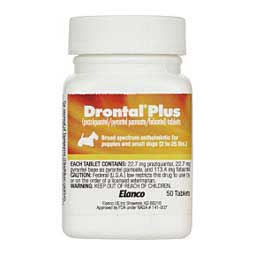 Drontal Plus Tablets for Dogs 50 ct (2-25 lbs) - Item # 230RX