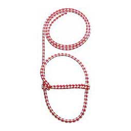 Red/White Braided Nylon Halter