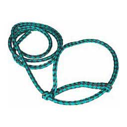 Green/Black Braided Nylon Halter