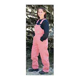 Blush Pink Sanded Insulated Womens Bib Overalls - Short