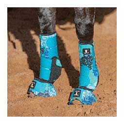 Legacy System Support Front Horse Boots Blue Scroll - Item # 25376