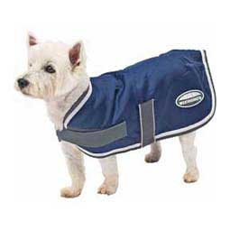 Navy/Gray/White Fleece Lined Windbreaker Dog Coat
