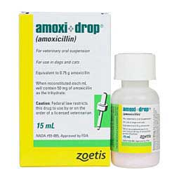 Amoxi Drop for Dogs and Cats 15 ml/50 mg/ml - Item # 255RX