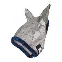 Supermask II Horse Fly Mask with Ears Gray/Blue - Item # 25996