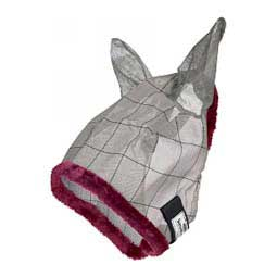 Supermask II Horse Fly Mask with Ears Gray/Maroon - Item # 25996