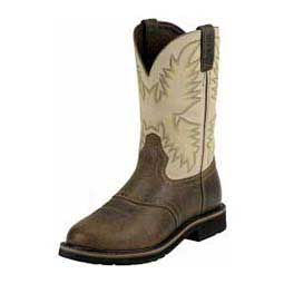 "Mens Stampede Collection 11"" Cowboy Work Boots Sawdust - Item # 26488"