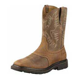 "Quilted Sierra Wide Square Toe 10"" Cowboy Boots Aged Bark - Item # 26647"