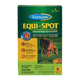 Equi-Spot Spot-On Fly Control for Horses 3 X10 ml/pk - Item # 27865