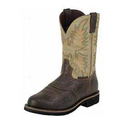 "Mens Waterproof Stampede Collection Round Toe 11"" Cowboy Work Boots Sawdust - Item # 28472"