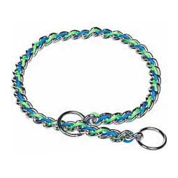 Laced Choke Chain Blue/Lime 3.9 mm (24'') - Item # 28912