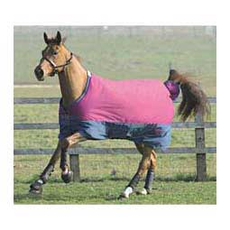 Berry/Blue Saxon 600 Denier Basic Medium Weight Turnout Horse Blanket