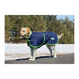Parka with Belly Wrap 1200 Denier Dog Blanket Navy/Lime - Item # 28975