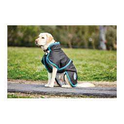 Comfitec Parka with Belly Wrap 1200 Denier Dog Blanket Black/Turquoise - Item # 28975
