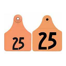 Double Panel Numbered Large Female + Large Male Calf ID Ear Tags Orange - Item # 29068