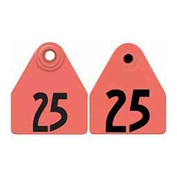 Double Panel Numbered Medium Female + Medium Male Cattle ID Ear Tags Red - Item # 29070