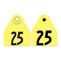 Double Panel Numbered Medium Female + Medium Male Cattle ID Ear Tags Yellow - Item # 29070