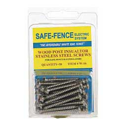 Safe-Fence Wood Post Insulator Stainless Steel Screws Powerfields