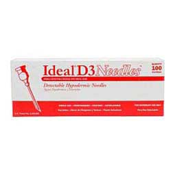 Stainless Steel ''D3'' Hypodermic Needles 100 ct (16 ga x 1 1/2'') - Item # 29878