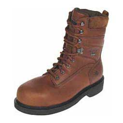 "Mens Durashock SR Lace Up Steel Toe 8"" Work Boots Brown - Item # 30087"