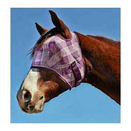 Web Trimmed Fly Mask without Ears Plum/Pink - Item # 31977