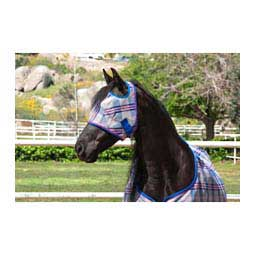 Web Trimmed Fly Mask without Ears Patriot Plaid - Item # 31977C