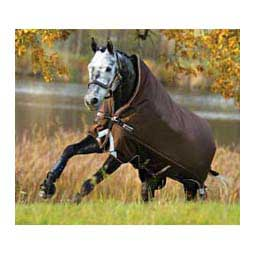 Chocolate/Cream Rambo Wug with VarilLayer Heavy Weight Turnout Horse Blanket
