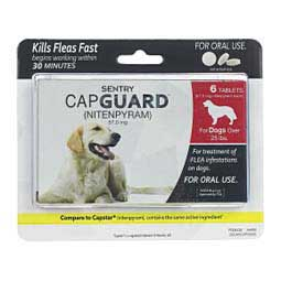 6 ct (25 lbs plus dog) Sentry CapGuard Nitenpyram Oral Tablets