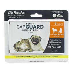 6 ct (2-25 lbs dog/cat) Sentry CapGuard Nitenpyram Oral Tablets