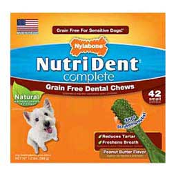 Peanut Butter S (42 ct) Nutri Dent Complete Grain-Free Dental Chews