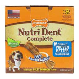 Nutri Dent Complete Dental Chew Pantry Pack Filet Mignon M (32 ct) - Item # 32686