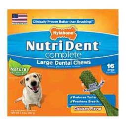 Nutri Dent Complete Dental Chew Pantry Pack Dog Treats Chicken L (16 ct) - Item # 32686