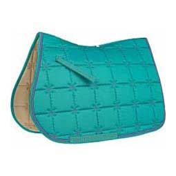 Ecole Majestic All Purpose English Saddle Pad Teal/Lavender - Item # 32880