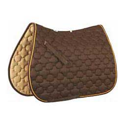 Ecole Noble All Purpose English Saddle Pad Chocolate/Gold - Item # 32881