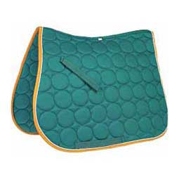 Circle Quilt All Purpose English Saddle Pad Aqua/White/Gold - Item # 32883