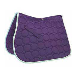 Circle Quilt All Purpose English Saddle Pad Purple/White/Turquoise - Item # 32883
