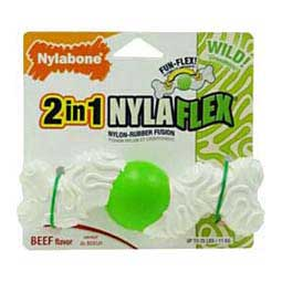 2 in 1 Nylaflex Nylon Rubber Wavy Dog Bone S (up to 25 lbs) - Item # 32957