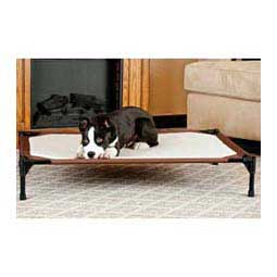 "Chocolate L (30"" D x 42"" W x 7"" H) Self-Warming Pet Cot"