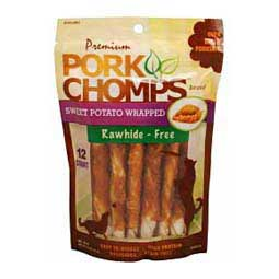 Premium Pork Chomps Mini Twistz Dog Treats Sweet Potato 12 ct - Item # 33774