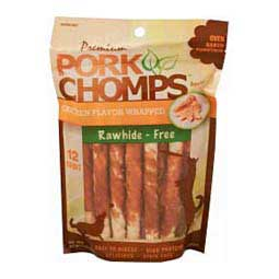 Premium Pork Chomps Mini Twistz Dog Treats Chicken 12 ct - Item # 33774