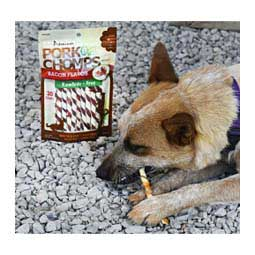 Premium Pork Chomps Bacon Mini Twist Dog Treats 30 ct - Item # 34185